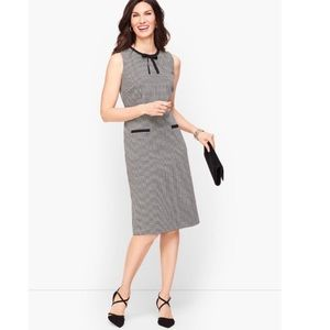 🖤TALBOTS🖤 TIPPED TIE NECK DRESS - HOUNDSTOOTH🖤